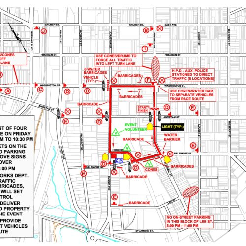 TRAFFIC ALERT: Road Closure in Downtown Hagerstown