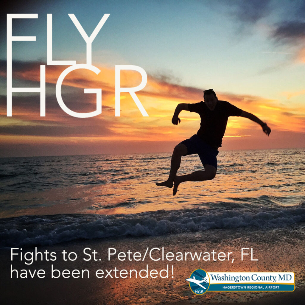 HGR is now offering more flights to St. Petersburg/Clearwater Florida