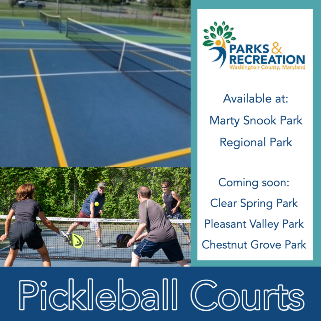 Pickleball Courts are now available in several county parks