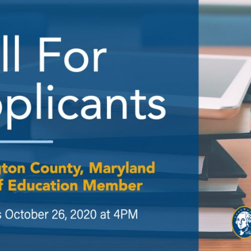 Board of Education Vacancy - Call for Applicants